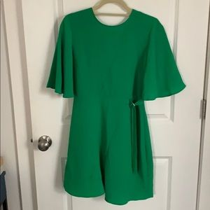 Green topshop dress with open back